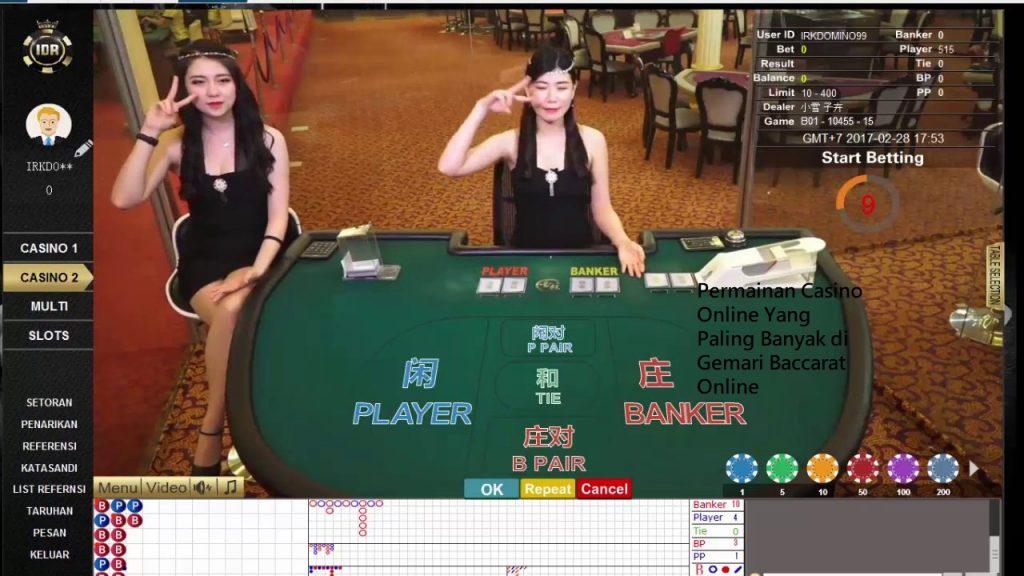 Permainan Casino Online Yang Paling Banyak di Gemari Baccarat Online